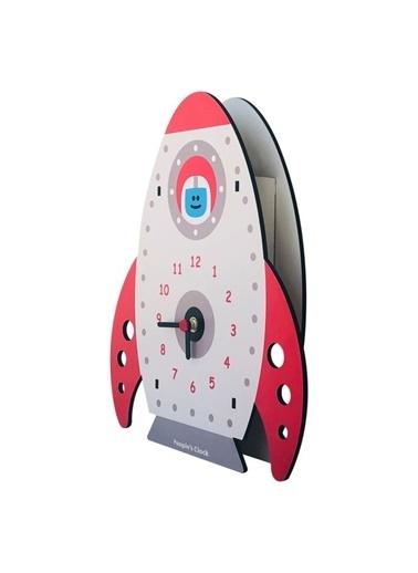 Peoples Clock Roket Özel Tasarım Duvar Saati  Renkli